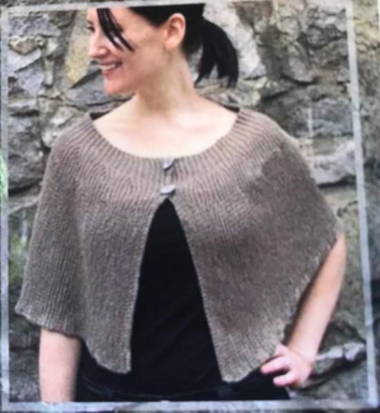 Cool Hemp Capelet - Hemp Knitting Pattern image 0