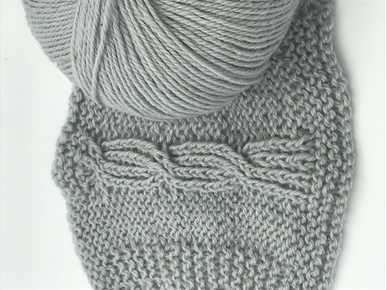 65% Wool and 35% Hemp - Double Knitting / 8 Ply Weight  - Platino image 1