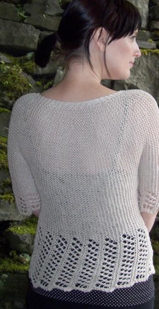 Lace Garden Cardi Hemp Knitting Pattern image 1