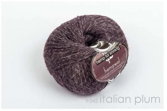 65% Wool and 35% Hemp - Double Knitting / 8 Ply Weight  - Italian Plum image 0