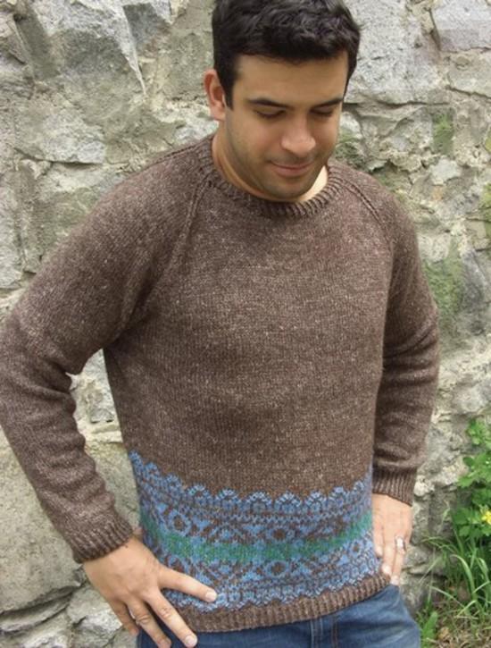 Border Fairisle - Hemp and Wool Knitting Pattern image 0