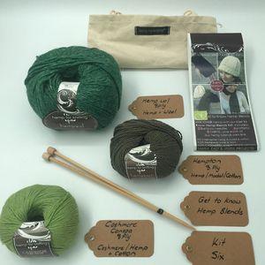 Get To Know Hemp Blends Knitting Yarn Kit