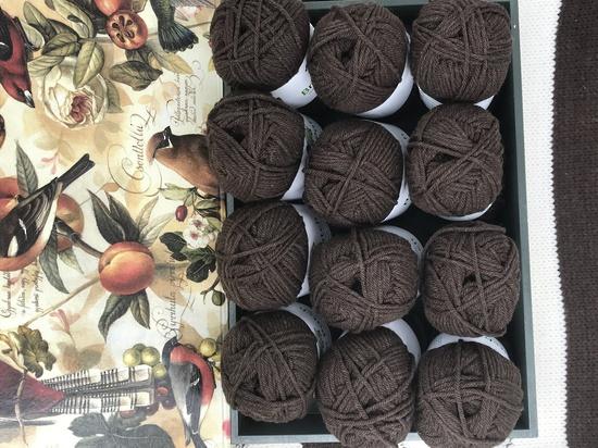 Two Dozen Balls of Chocolate Organically Grown Super Soft Merino Knitting Wool image 3