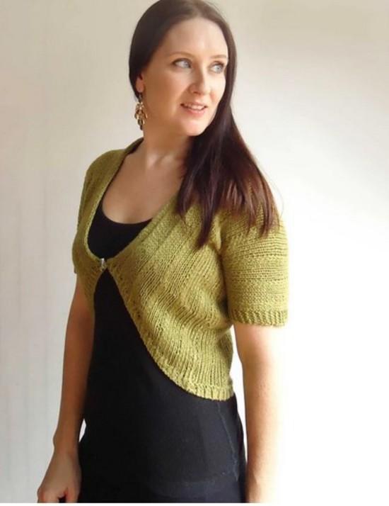 Cool Hemp Cardi - Hemp Knitting Pattern image 0