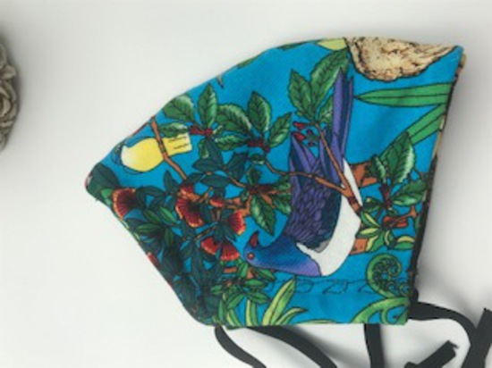 Kiwiana Flora and Fauna with Flax on Reverse Side - Reversible Limited Edition Face Mask image 3
