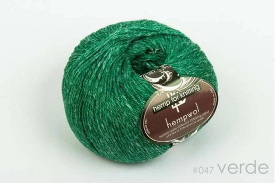 65% Wool and 35% Hemp - Double Knitting / 8 Ply Weight  - Verde image 0
