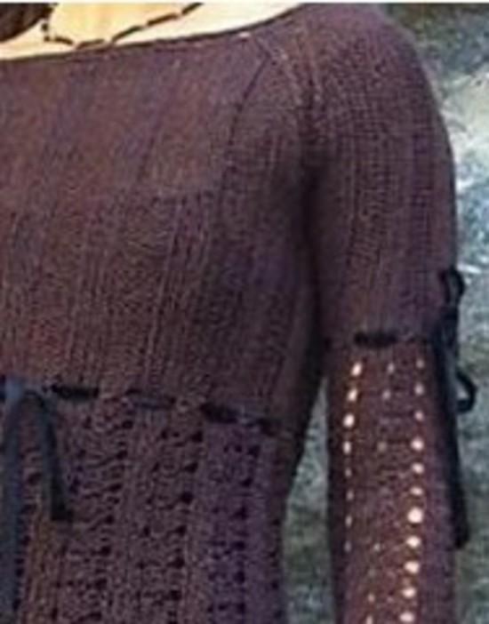 The Eiffel Stunning Romantic Top Hemp Knitting Pattern (Free Pattern Also Available) image 1