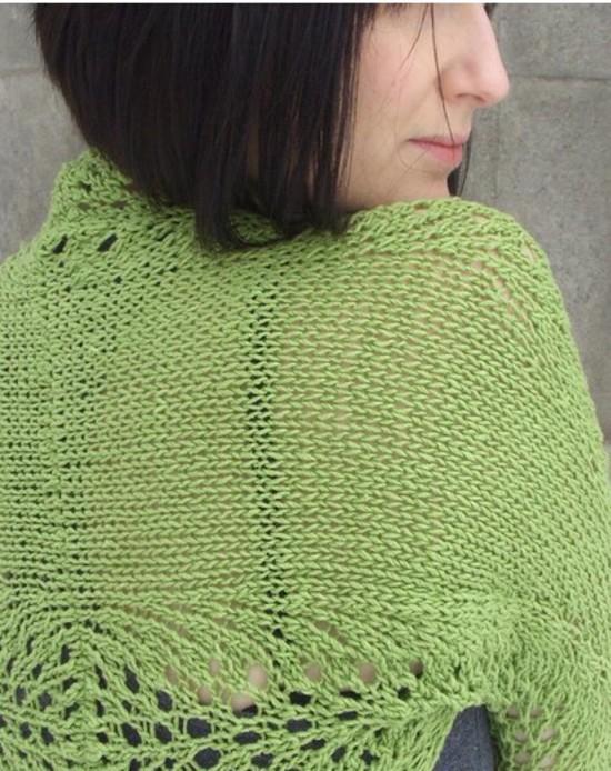 Lovely Lace Shrug - Hemp Knitting Pattern image 1