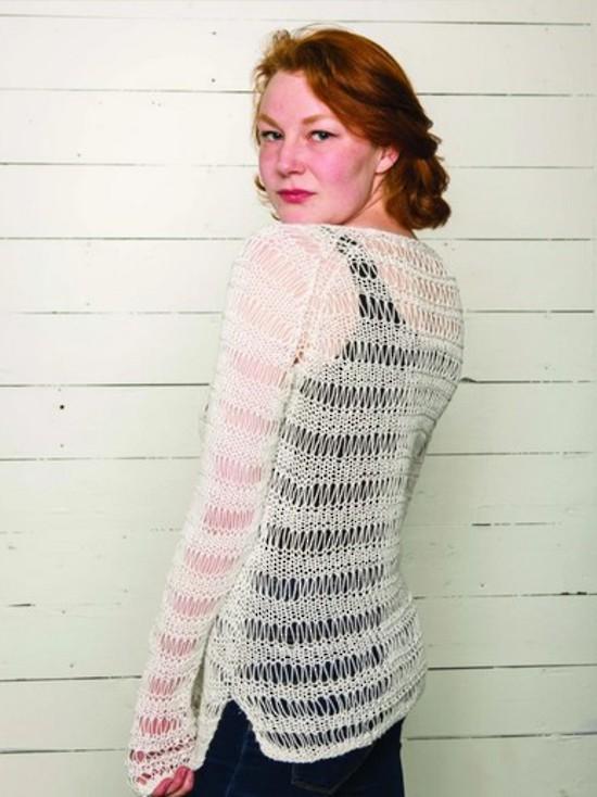Spring Droplet Pullover - Hemp Knitting Pattern image 1