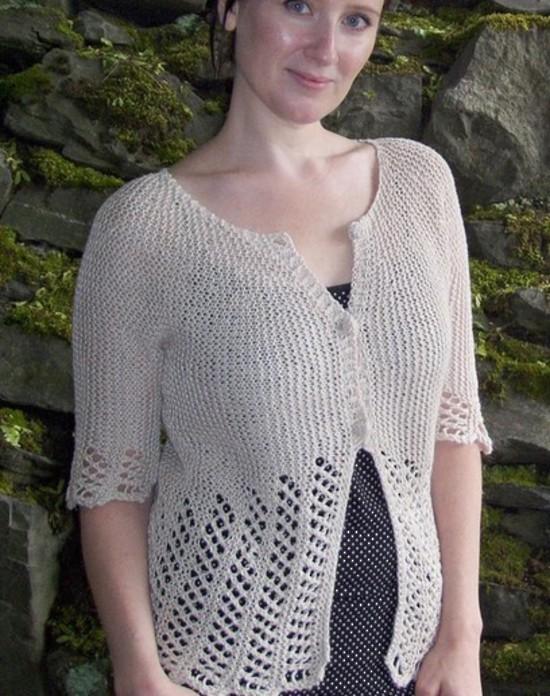 Lace Garden Cardi Hemp Knitting Pattern image 0