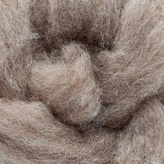 Carded Grey Wool (300 Gram Bags) image 1