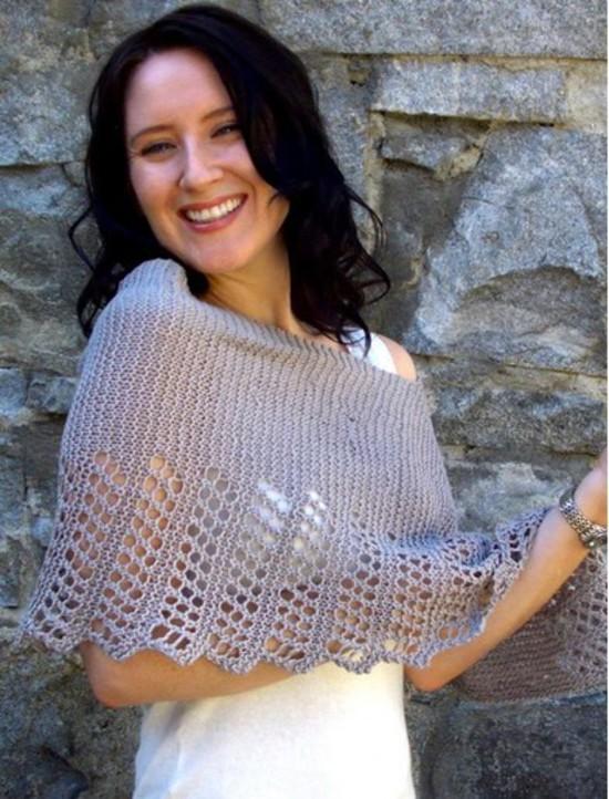 Cool Hemp Ponchette -  Small Hemp Knitting Project image 3