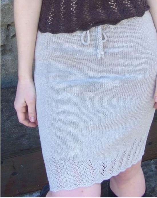 Lovely Leaf Skirt Hemp Knitting Pattern image 1
