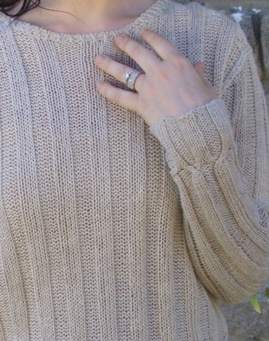 Cable Cross Pullover Hemp Knitting Pattern image 0