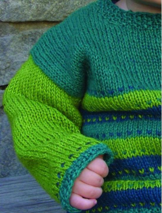 Tiny Tykes Stripes Hemp Knitting Pattern - Childrens image 2