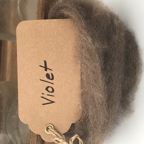 Single Sheep Carded Wool Release - Violet  (300 Gram Bags) image 0