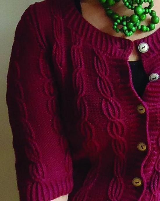 Terrific Twist Cardi Hemp Knitting Pattern image 1