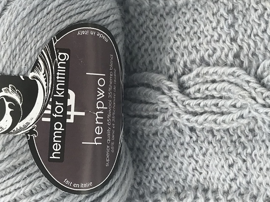 65% Wool and 35% Hemp - Double Knitting / 8 Ply Weight  - Platino image 2