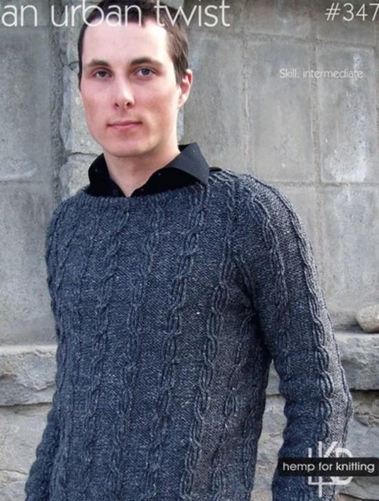 An Urban Twist Hemp Knitting Pattern image 0
