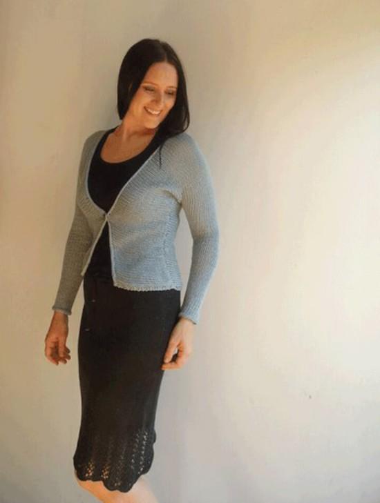Melissa's Cardi Hemp Knitting Pattern image 3