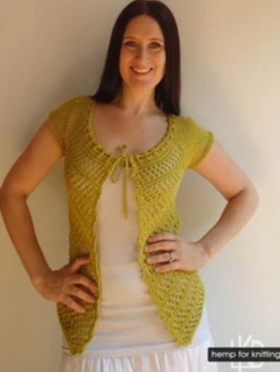 The Florence Top - Hemp Knitting Pattern image 2
