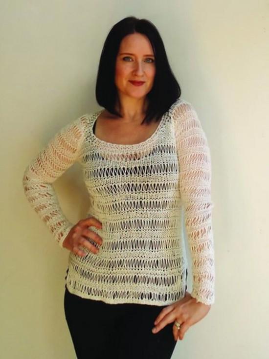 Spring Droplet Pullover - Hemp Knitting Pattern image 0