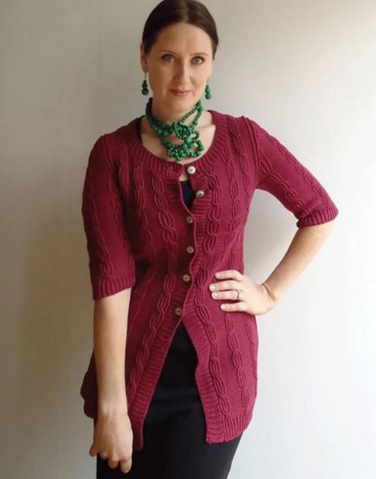 Terrific Twist Cardi Hemp Knitting Pattern image 2