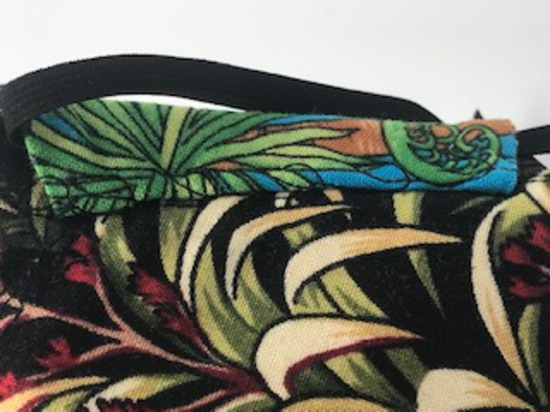 Kiwiana Flora and Fauna with Flax on Reverse Side - Reversible Limited Edition Face Mask image 2