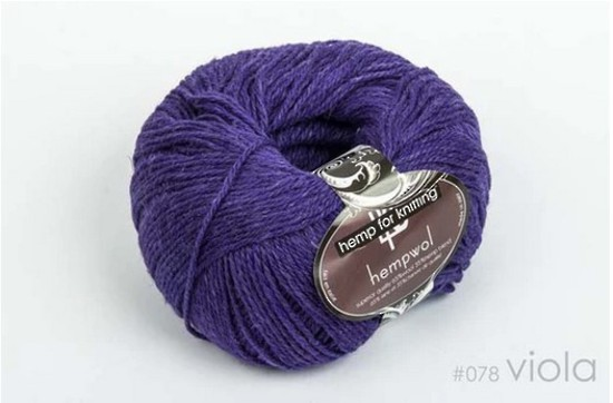 65% Wool and 35% Hemp - Double Knitting / 8 Ply Weight  - Viola image 0