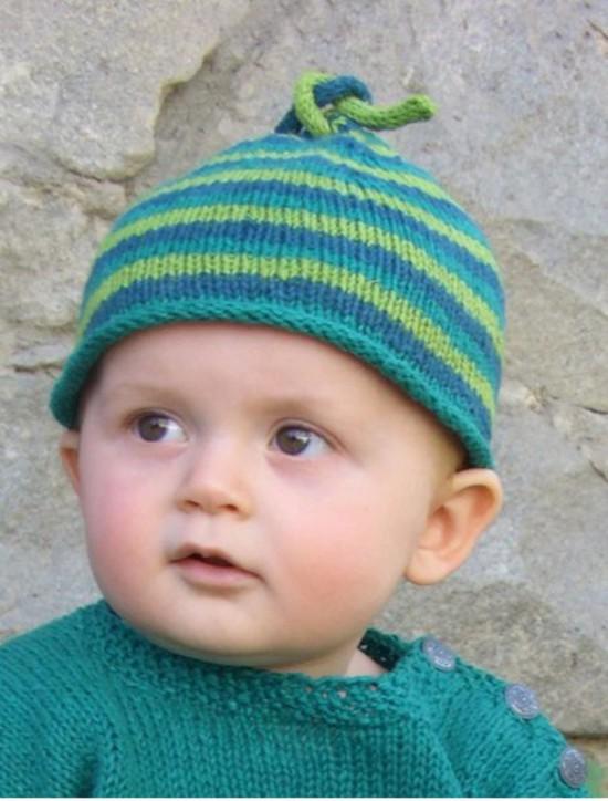 Hemp Head Hugger Stripes - Hemp Knitting Pattern image 0