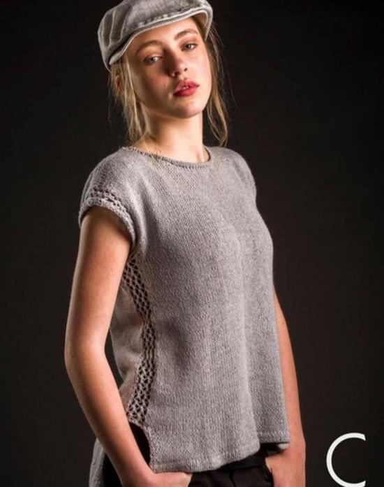 Ooh La Lace Tee Trio - Hemp Knitting Pattern image 0