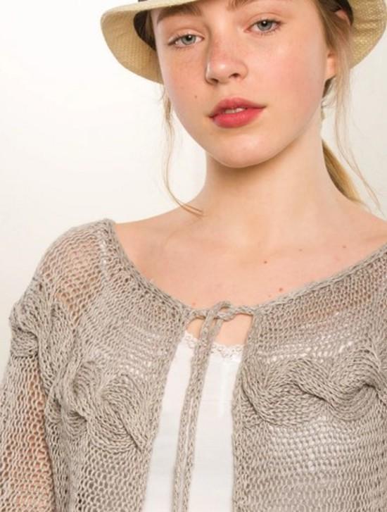 Hemp Cable Cardi - Hemp Knitting Pattern image 1