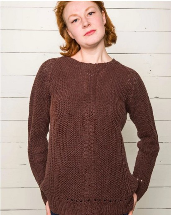Casual Garter Stitch Pullover Hemp Knitting Pattern image 3