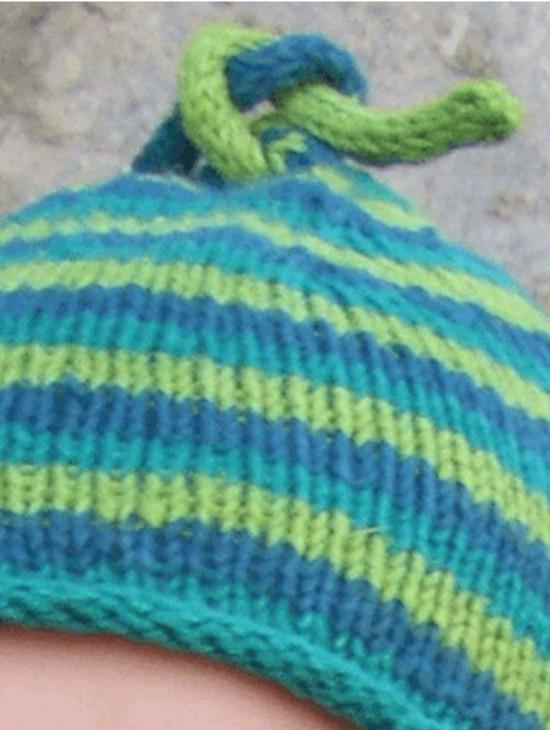 Hemp Head Hugger Stripes - Hemp Knitting Pattern image 1