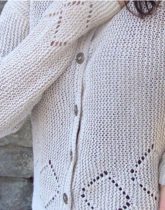 Lace Diamond Trellis Cardigan and Pullover image 0