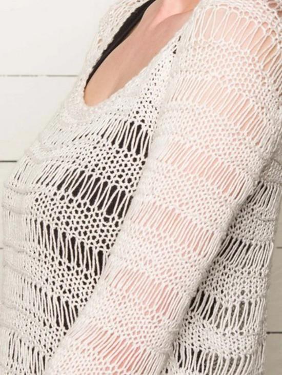 Spring Droplet Pullover - Hemp Knitting Pattern image 2