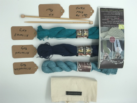 Get to Know Hemp Knitting Yarn - Kit Four - Shades of Blue image 3