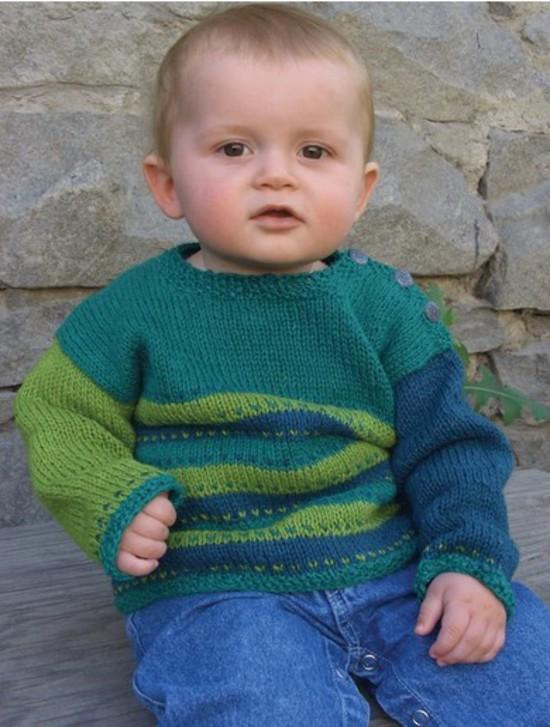 Tiny Tykes Stripes Hemp Knitting Pattern - Childrens image 0
