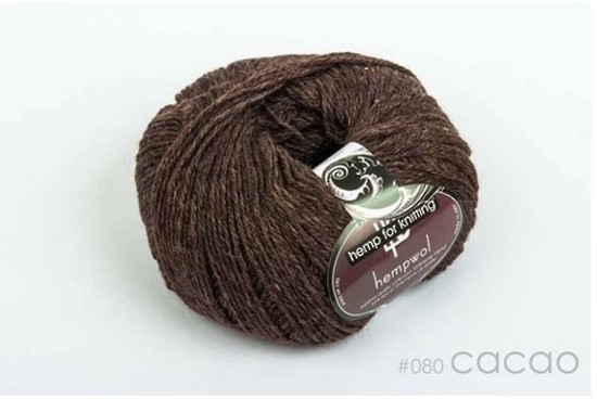 65% Wool and 35% Hemp - Double Knitting / 8 Ply Weight  - Cacao image 0