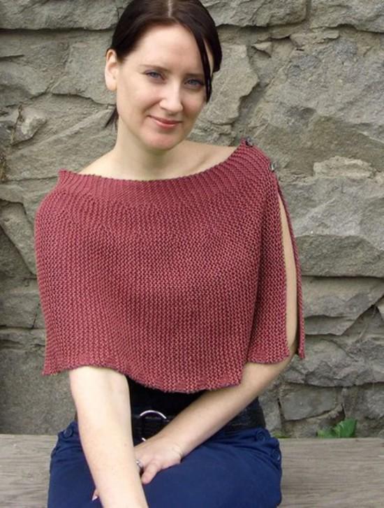 Cool Hemp Capelet - Hemp Knitting Pattern image 2