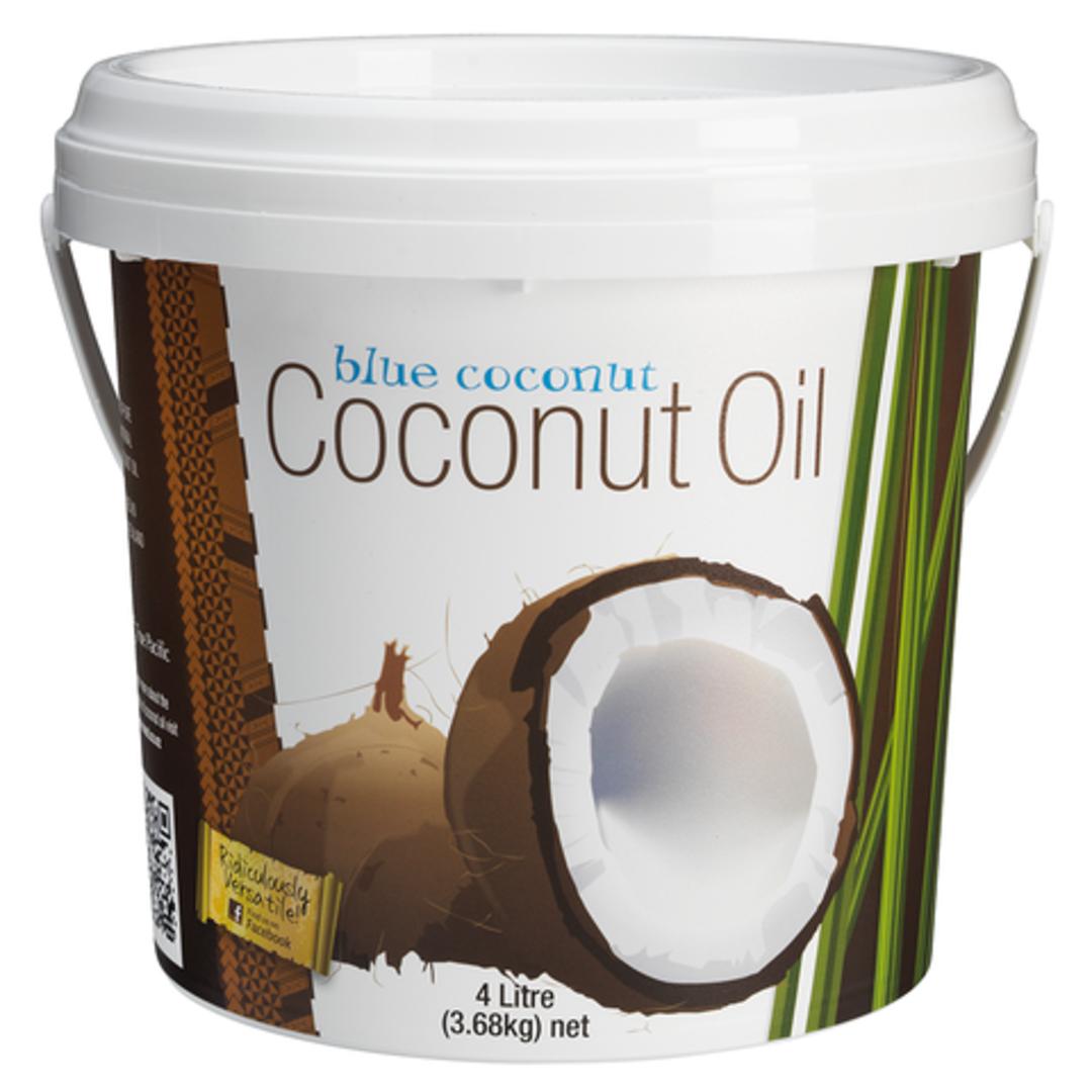 Coconut Oil Pail 4L - Blue Coconut image 0