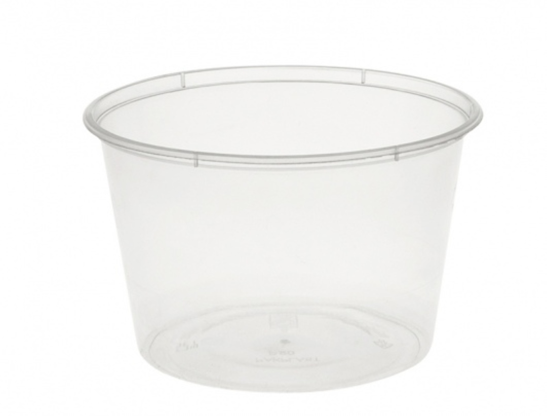 Containers ROUND plastic 500ml / 16oz (50) image 0
