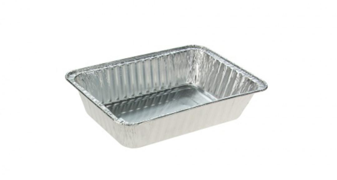 Foil Tray Chicken / Hangi NO LID (50) 219L x 156W x 48H image 0