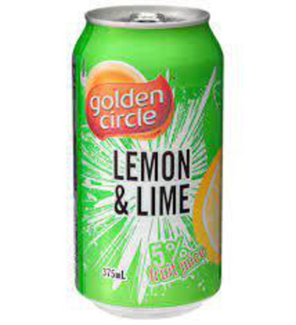 Lemon Lime Golden Circle Can 5% Fruit Juice 24x375ml image 0