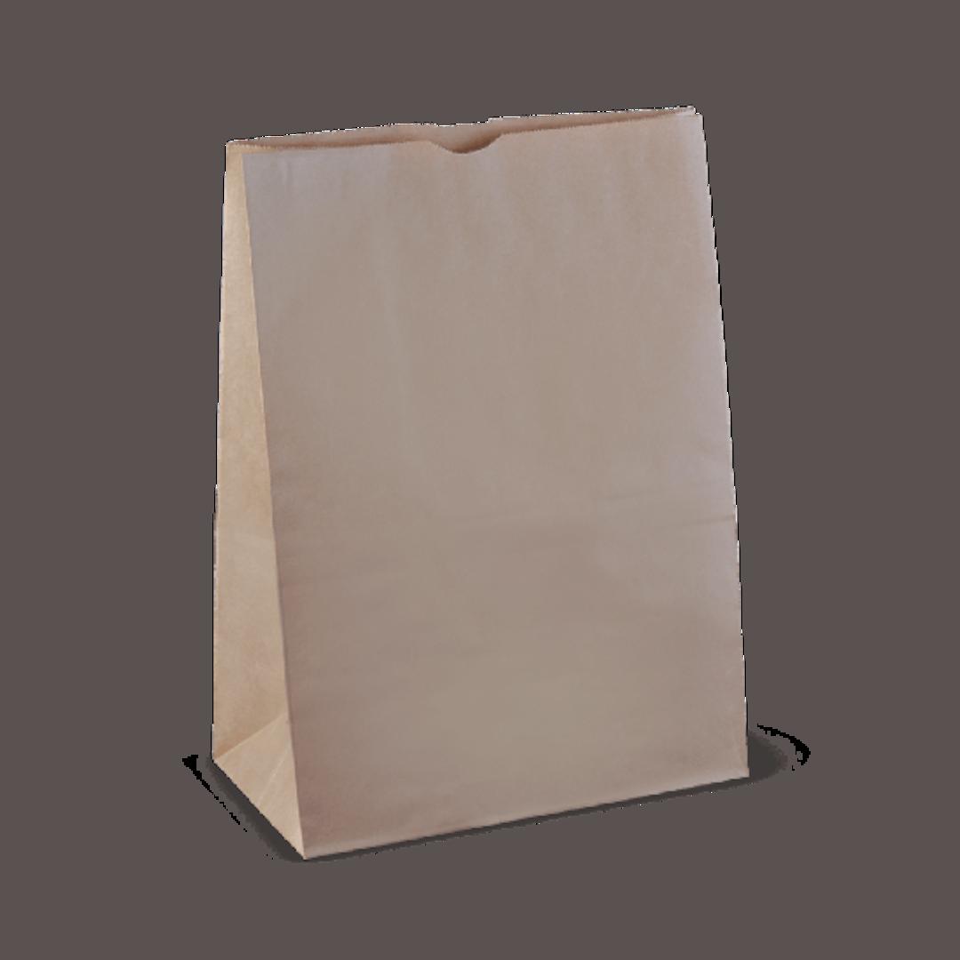 Bag Block Bottom Paper LARGE CHECKOUT (25) 430Hx300Wx175 image 0