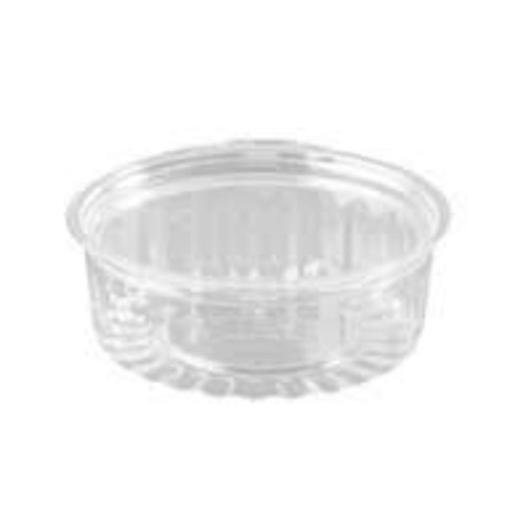 Sho Bowl Containers Round 250ml/8oz 40-8FLS FLAT Lid (50) image 0