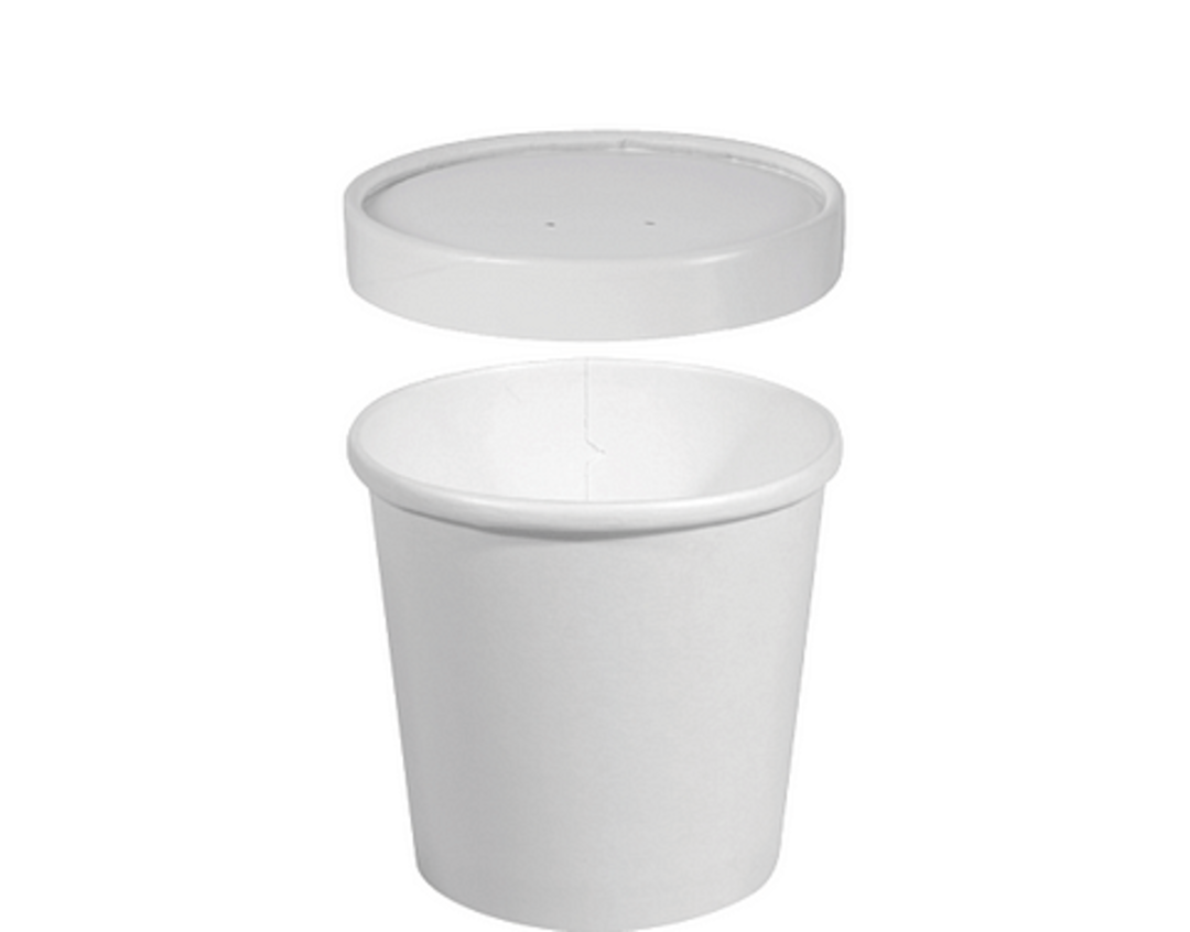 PAPER Heavyweight Combo 8oz / 236ml (50) Lid and Tub image 0