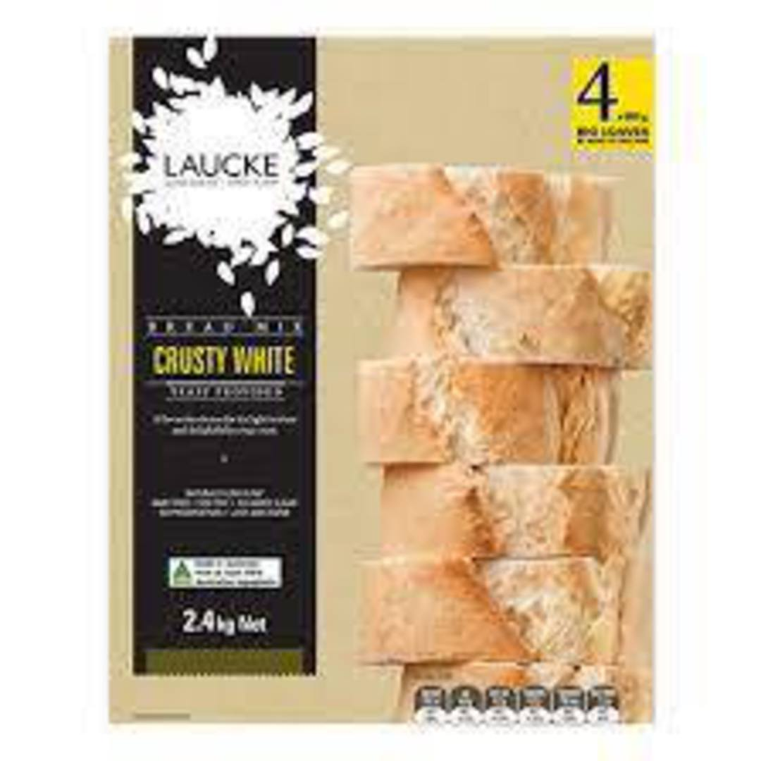Laucke Bread Mix 2.4kg CRUSTY WHITE (Makes 4 Loaves) image 0