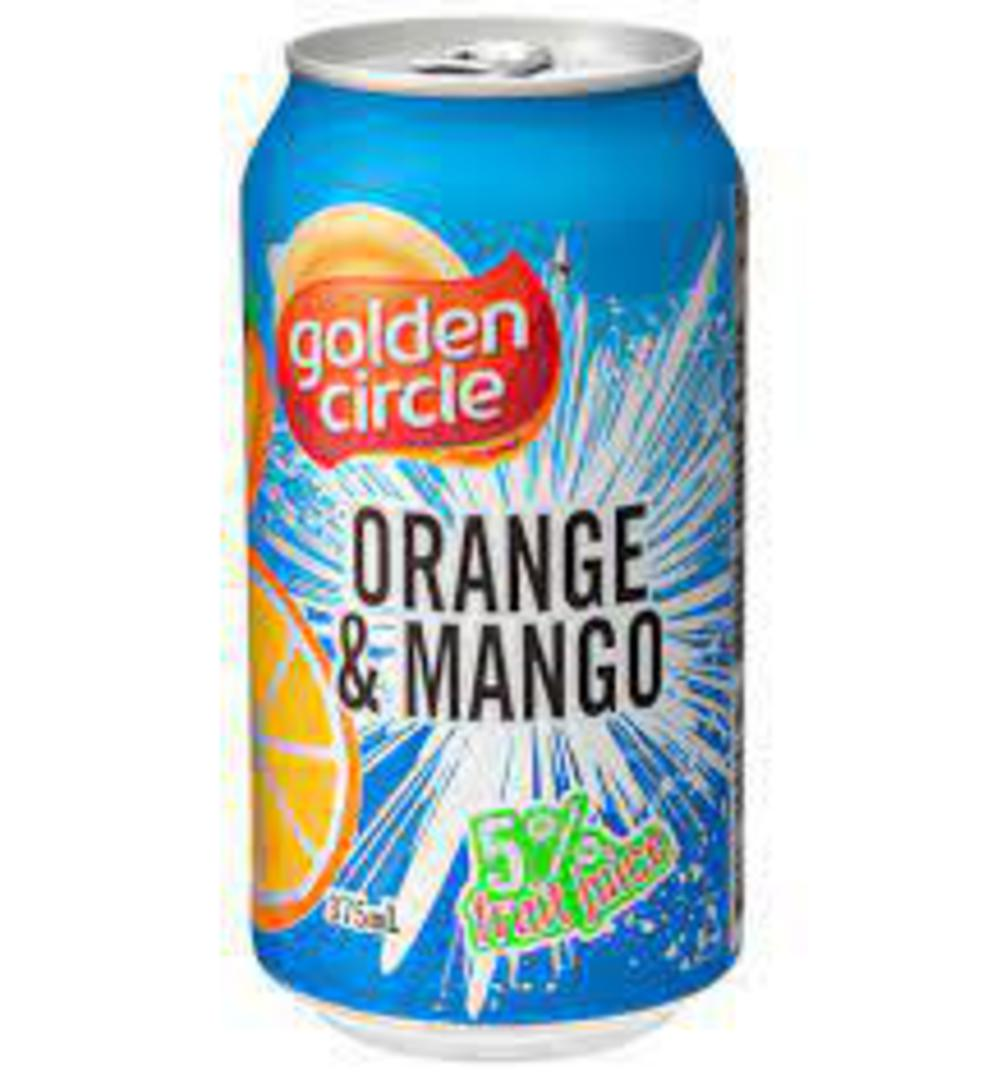 Orange Mango Golden Circle Can 5% Fruit Juice (24x375ml) image 0
