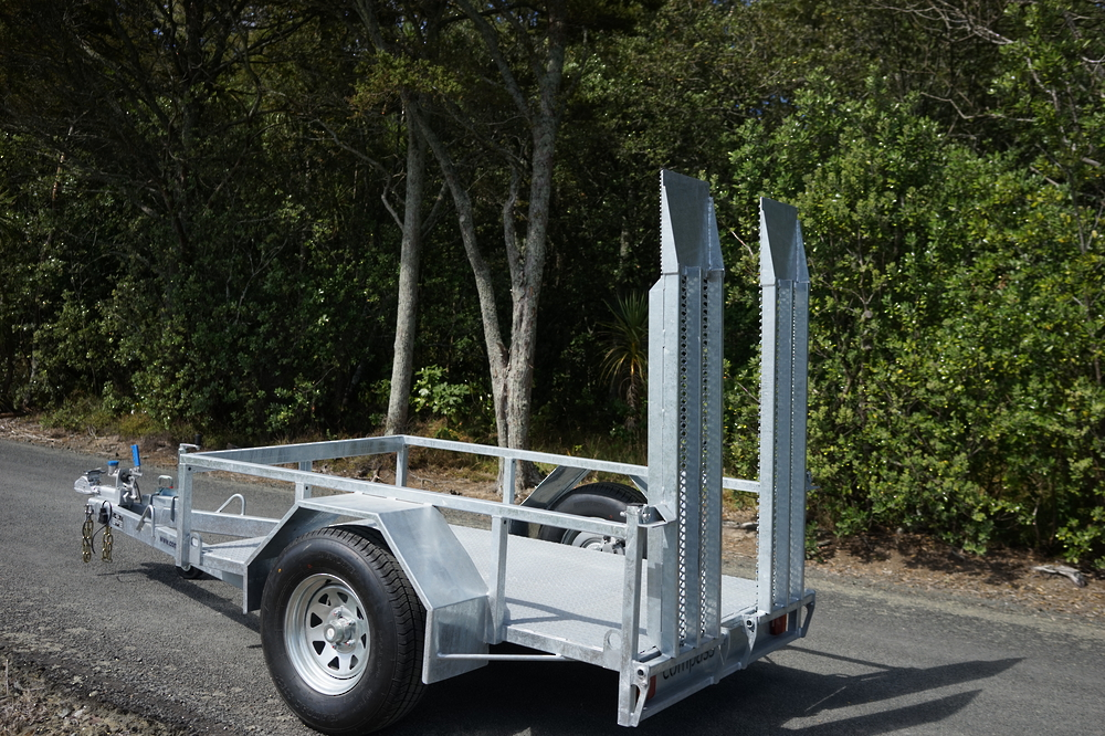 Single Axle Scissor Lift Trailer 2100 x 1220mm Braked image 2